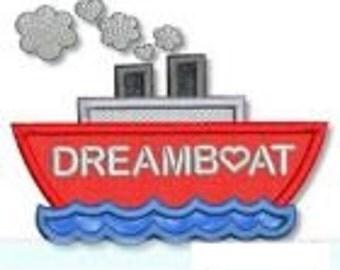 Dreamboat Design Appliqued on a Children's Shirt
