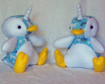 Unicorn Penguin Penicorn Plush Plushie Toy