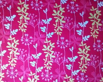 One & 1/8 Yard Cut of New Cotton Quilting Fabric BY the YARD, Joyful Garden by Angela Brumby, Studio E Fabrics, Striped Floral Fabric
