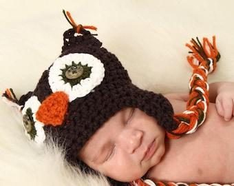 Baby Owl Earflap Hat