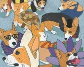 Corgis in Costume Poster
