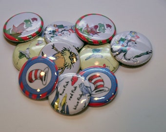 24 Dr. Seuss Flat Back Buttons