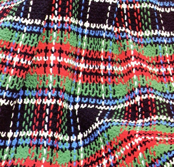 Crochet Pattern Plaid Afghan : Vintage Plaid Crochet Afghan Pattern