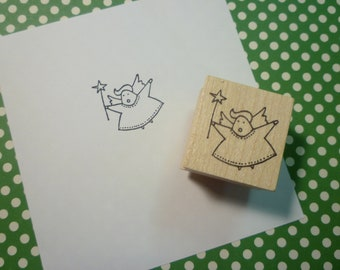 angel amy wood mounted rubber stamp DB4391C