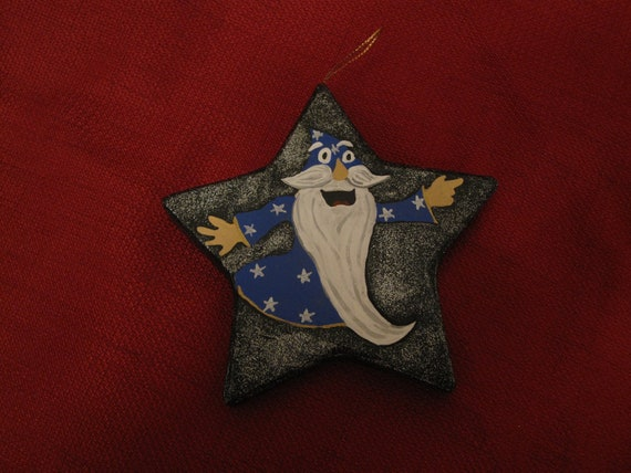 Blue Wizard Ornament