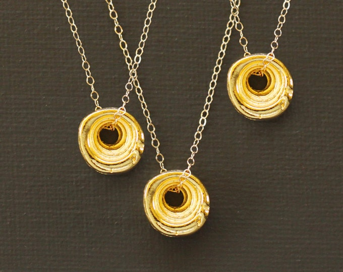 Gold Puka Shell Necklace - THREE NECKLACES