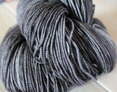 Dark Steel Gray Merino Nylon Sock Yarn - Moon Stone Farm