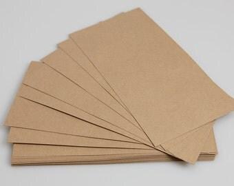 Recycled Brown Kraft DL Card Blanks (pack of 50)