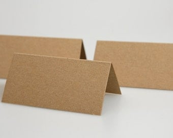 Recycled Kraft wedding place cards ( pack of 50)