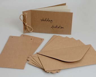 Recycled Brown Kraft Wedding Cheque Books (pack of 25)