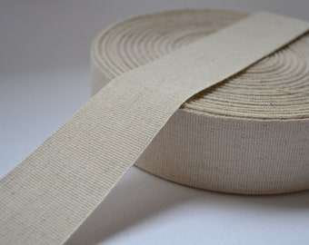 2 yards Japanese Linen fabric sewing label, fabric, crafts ribbon tape 1.5 inch / 4cm