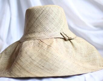 Handmade Wide Brim Madagascar Raffia Hat