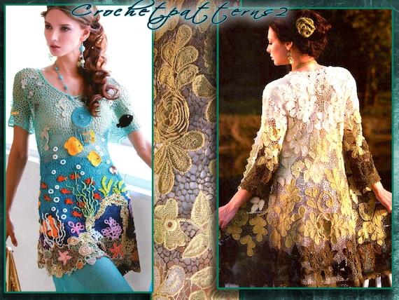 PDF ebook - patrones de ganchillo. Mujeres crochet blusas, Rebeca ...
