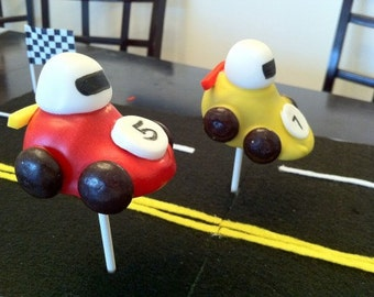 Race Car Cake Pops