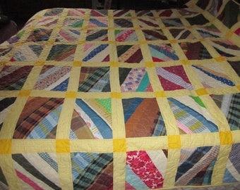 Yellow scrap quilt