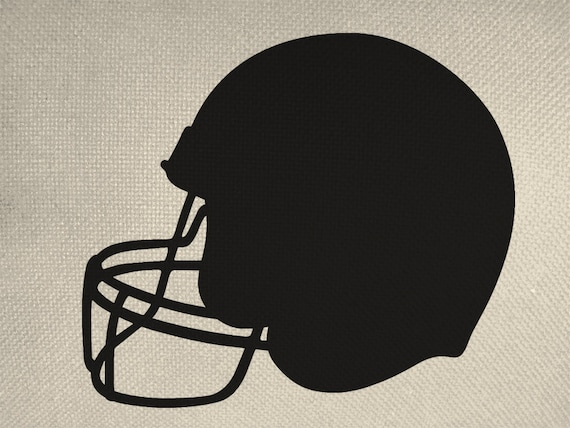 Football Helmet Style Silhouette Iron On By Everythinggraphic