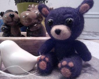 Cutie Choco - Needle felted brown bear