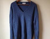 Vintage Men's Medium Blue L.L. Bean Shetland Sweater