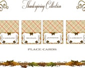 Thanksgiving Collection - 8 Printable CUSTOMIZED PLACE CARDS- Sweet Scarlett Events