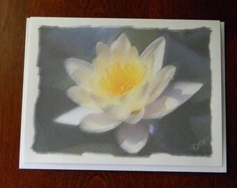 Waterlily Flower Notecard - Blank Inside
