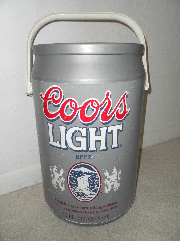 Vintage Rare Coors Light Jumbo Pop Top Cooler