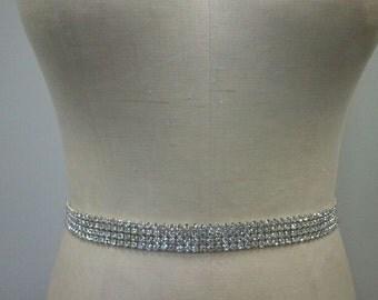 Bridal Belt, Wedding belt, Bridesmaid - Crystal Rhinestone Belt Style B1015 - Made to Order