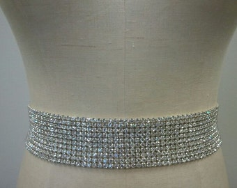 Wedding Belt, Bridal Belt, Sash Belt, Crystal Rhinestone - Style B177