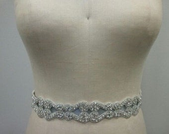 SALE - Wedding Belt, Bridal Belt, Sash Belt - Crystal Rhinestone - Style B111
