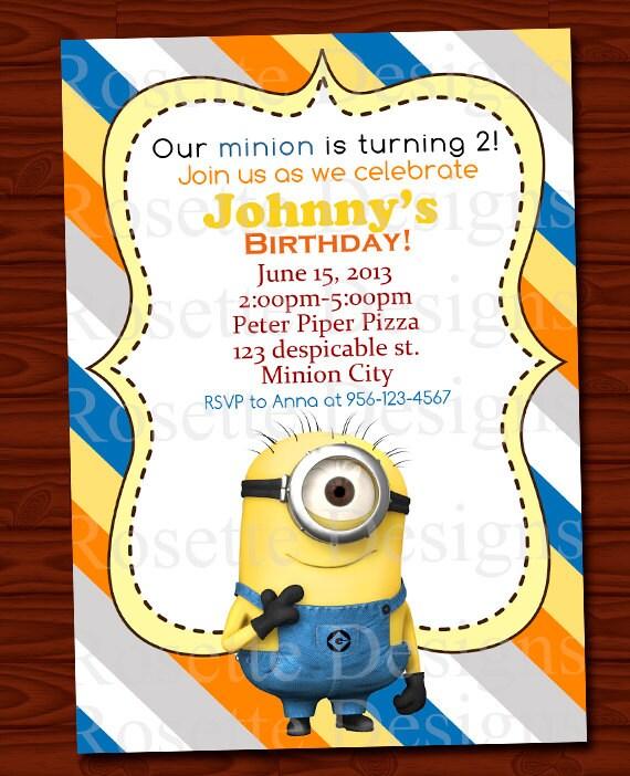 minion birthday card template