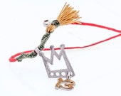 2013 New Year, Christmas, graduation pendant necklace charm: The lucky 13 crown in silver and painted enamel from the Microcosmos Collection