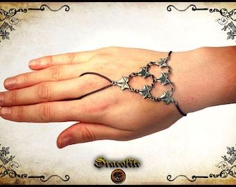 Druidic bracelet - handmade bracelet leaf feuille tree of life
