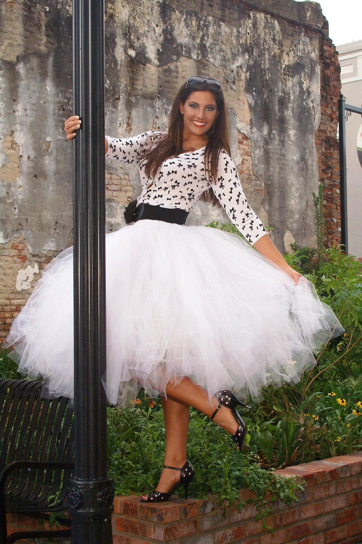 Tulle skirt in tea length this tutu skirt is perfect for for Tea length wedding dress tulle skirt