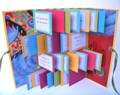 12 Steps Serenity Prayer Recovery Handmade Accordian Gift Book with Handpainted Silk Cover