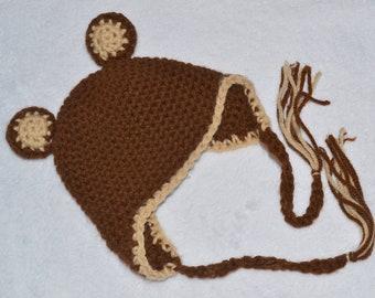 Bear ear flap hat