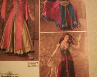 Simplicity 2159 Jeune Femme Costumes Misses sizes 6,8,10,12 & 14,16,18,20,22.  Variations of belly dancer