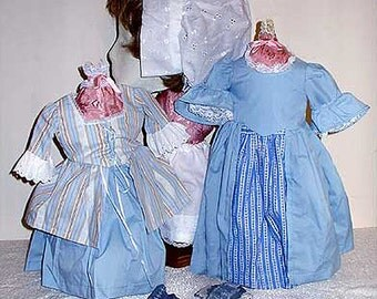 """The Bluebell Historic 18"""" Doll Fashions Collection"""