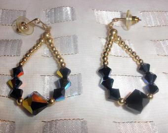 Black Crystall Earrings