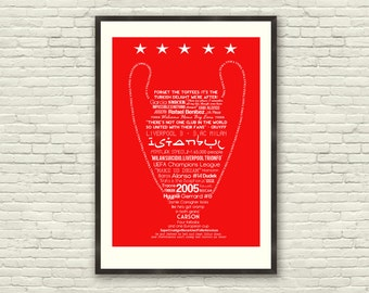 Liverpool FC - Istanbul Souvenir Limited Edition Soccer Football Print (multiple sizes)
