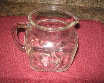 Federal glass pitcher
