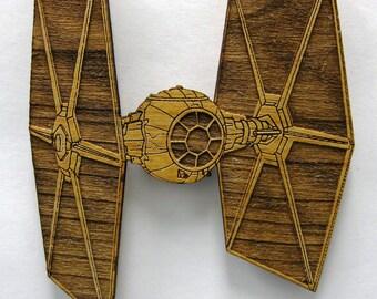 Star Wars TIE Fighter Wooden Fridge Magnet