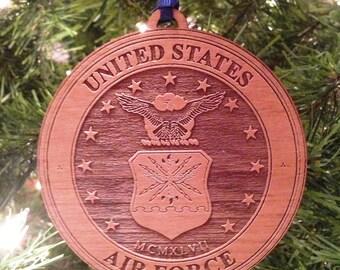 USAF Wooden Ornament
