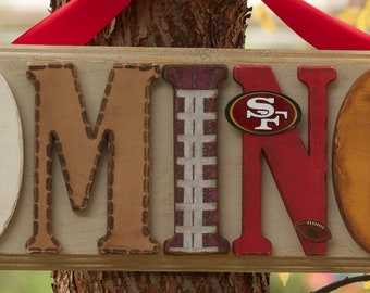 San Francisco 49ers Personalized Plaque - Customize by name, colors and players. All teams welcome!