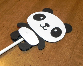 Panda Cupcake Toppers - Set of 12 - Panda Birthday Party