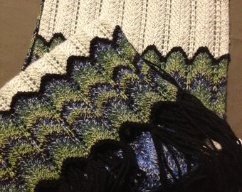 Handmade Fantastic knitted scarf. Very well made Swedish pattern. Handcraft