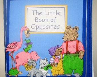 "Children Cloth Book ""The Little Book of Opposites"""