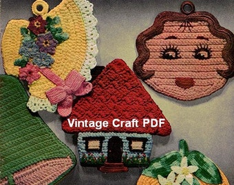 Pot Holders and Oven Mitts to Crochet, Lily Design Book No.59, PDF