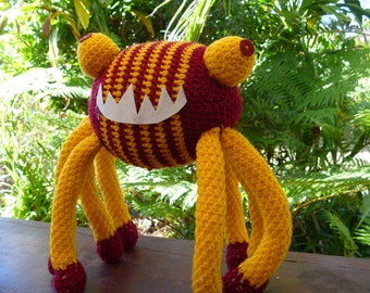 Daddy Long Legs crocheted monster