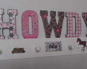 Children's Cowgirl Letters-Personalized-Room Decor
