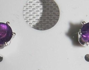 Amethyst Earrings in Silver