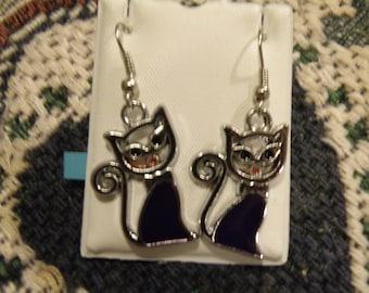 Black Cats 2 Earrings